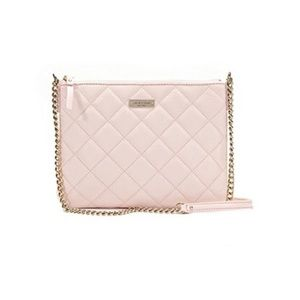 Kate Spade blush pink quilted crossbdy Calfskin